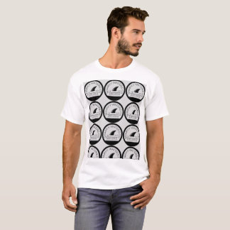 T-shirt Les eaux de Sharky ont couvert de tuiles le