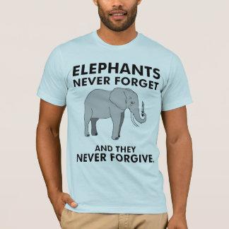 T-shirt Les éléphants n'oublient jamais