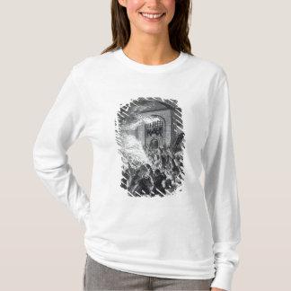 """T-shirt Les émeutiers de """"aucun papisme"""" brûlant la prison"""