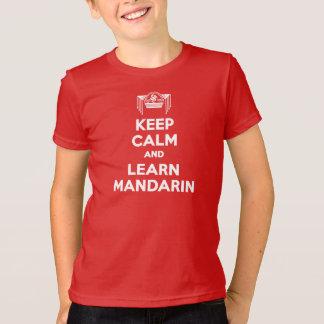 T-shirt Les enfants maintiennent calme et apprennent le