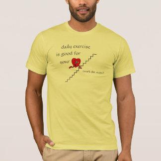 T-shirt les étapes, coeur mignon, exercice quotidien, est