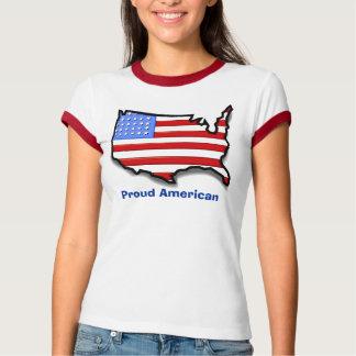T-shirt Les Etats-Unis, Américain fier