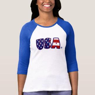 T-shirt Les Etats-Unis marquent Madame impressionnante