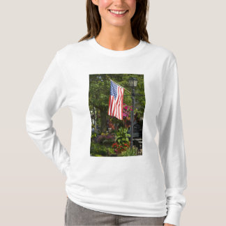 T-shirt Les Etats-Unis, New York, Lewiston. Drapeau