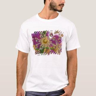T-shirt Les Etats-Unis, Orégon, Portland. Les fleurs de