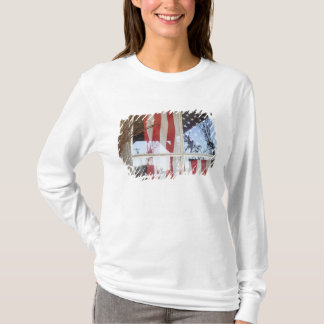T-shirt Les Etats-Unis, Orégon, Shaniko. Drapeau dans la