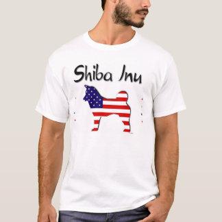 T-shirt Les Etats-Unis patriotiques Shiba Inu