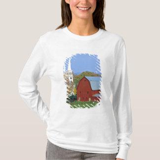 T-shirt Les Etats-Unis, Vermont, Peacham. Une grange et un