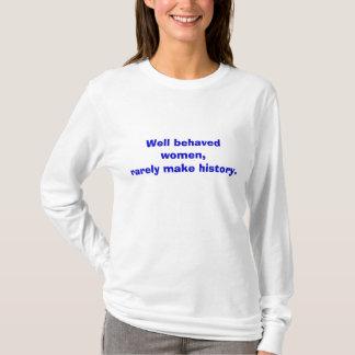 T-shirt Les femmes bien comportées, font rarement