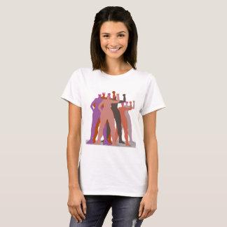 T-shirt Les femmes de Pussyhat se tiennent ensemble