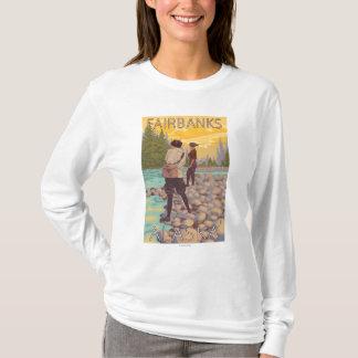 T-shirt Les femmes pilotent la pêche - Fairbanks, Alaska
