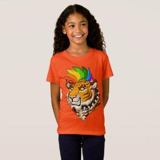 T-Shirt Les filles de tigre de punk/Mohawk affinent le
