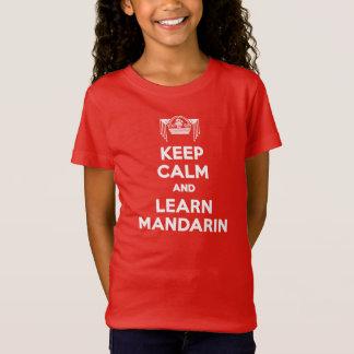 T-Shirt Les filles maintiennent calme et apprennent le
