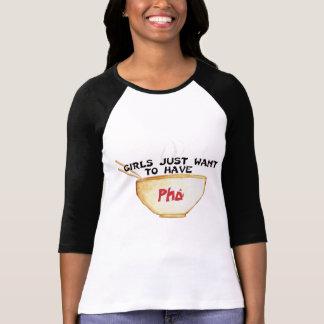 T-shirt Les filles veulent juste avoir Pho Jersey