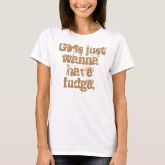 T-shirt Les filles veulent juste prendre le fondant