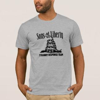 T-shirt Les fils de la RÉPONSE de TYRANNIE de liberté TEAM
