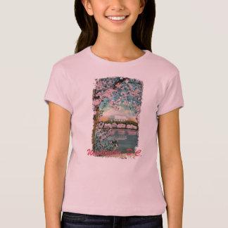 T-shirt Les fleurs de cerisier ont peint la chemise de