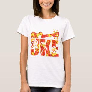 T-shirt Les fleurs d'Uke