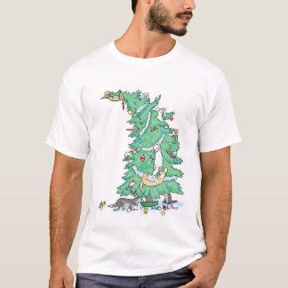 T-shirt Les furets lèvent une chemise d'arbre