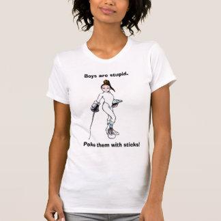 T-shirt Les garçons sont stupides., les poussent avec des