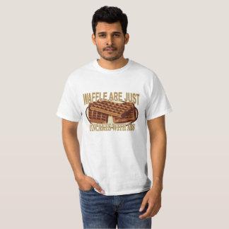 T-shirt Les gaufres sont juste des crêpes avec des ABS.