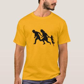 T-shirt Les gens courant sur l'autoroute