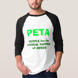 T-shirt Les GENS pour le TAPEMENT MORAL des ÂNES, PETA