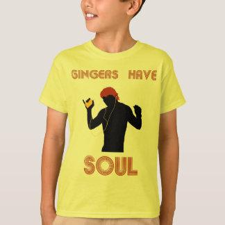 T-shirt Les gingembres masculins ont l'âme