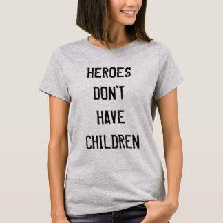 T-shirt Les héros n'ont pas la chemise d'enfants