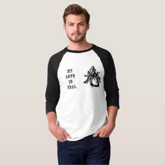 T-shirt Les hommes de Saint-Valentin énervés mon amour est