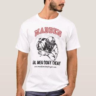 T-shirt Les hommes Énerver-Sim-Joueur-Blanc-Plats et vrais