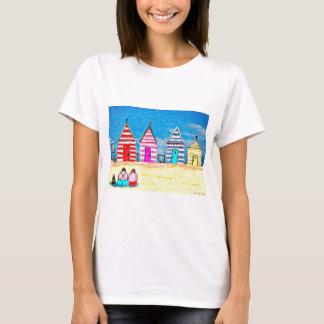 T-shirt Les huttes de plage