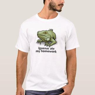 T-shirt Les iguanes ont mangé mon travail