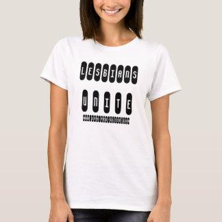 """T-shirt Les """"lesbiennes unissent"""" le bébé de dames -"""