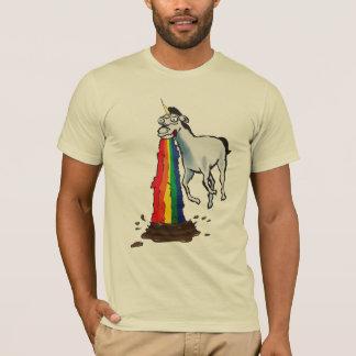 T-shirt Les licornes vomissent des arcs-en-ciel