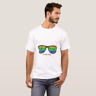 T-shirt Les lunettes de mauvaise herbe ont imprimé le