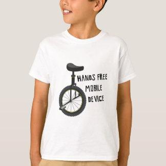 T-shirt Les mains libèrent l'appareil mobile