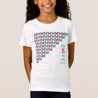 T-Shirt Les maths personnalisées sont pour des filles,