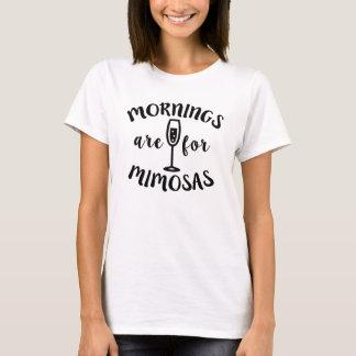 T-shirt Les matins sont pour la mimosa drôle de mimosas