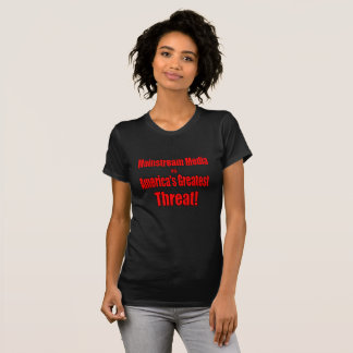 T-shirt Les médias de courant principal est la plus grande
