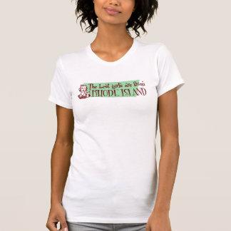 T-shirt Les meilleures filles sont d'Île de Rhode