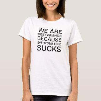 T-shirt Les meilleurs amis des femmes puisque chacun suce