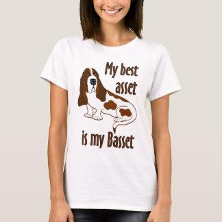 T-shirt Les meilleurs capitaux Basset Hound