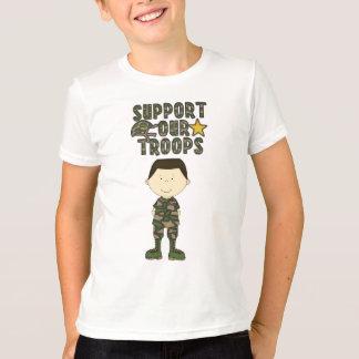 T-shirt Les militaires comiques de soldat de garçon de