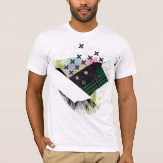 T-shirt Les motifs de tartan sont ouvriers