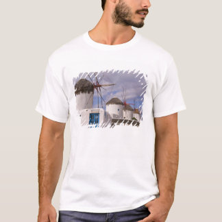 T-shirt Les moulins à vent de Mykonos sur les îles