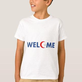 T-shirt Les musulmans souhaitent la bienvenue ici