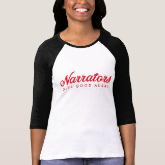 T-shirt Les narrateurs donnent le bon 3/4 jersey auditif
