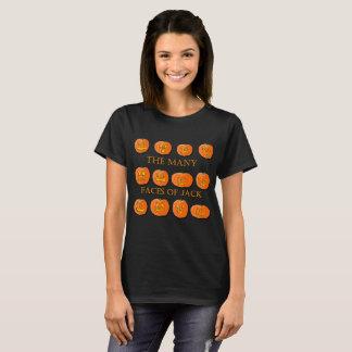 T-shirt Les nombreux visages de Jack-o'-lantern