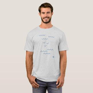 T-shirt les nuages, les mouettes et la mer